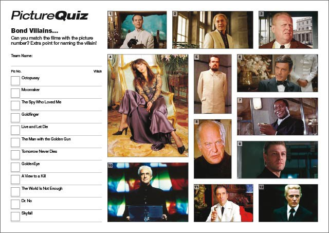 Quiz 018 Bond Villains