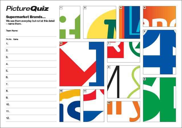 Quiz 020 Supermarket Logos