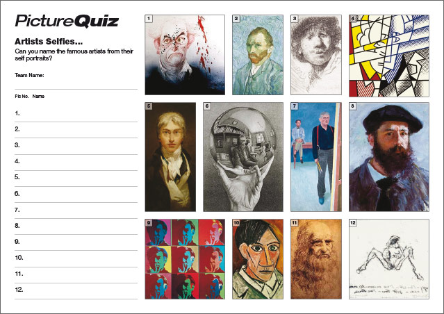 Quiz 022 - Artists Selfies Picture Round
