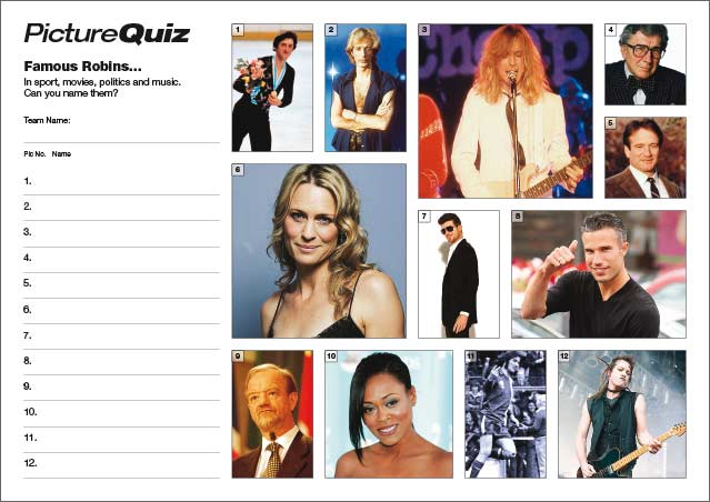 Quiz 023 - Famous Robins