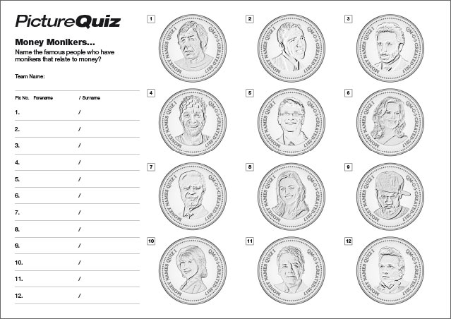 Quiz 067 Money Monikers