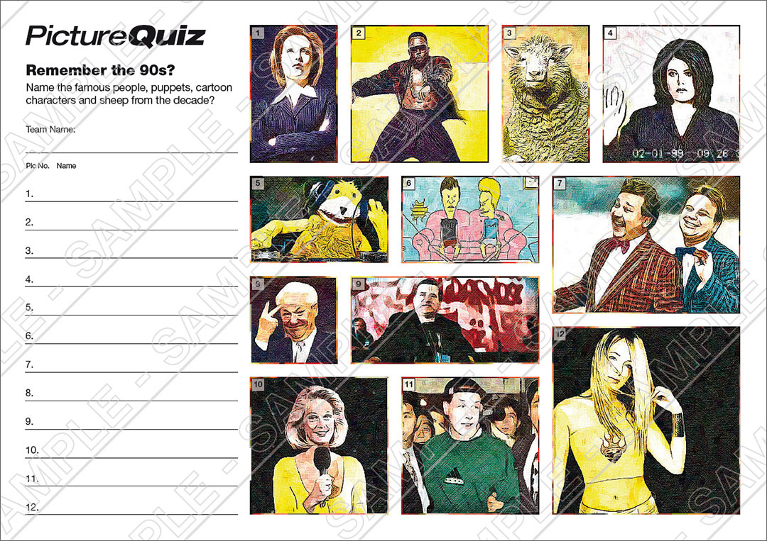Quiz Number 069 with a Remember the 90s Picture Round