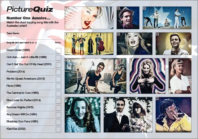 Quiz 071 Australian Number Ones