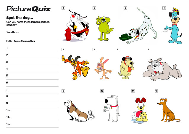 Quiz 074 Cartoon Canines