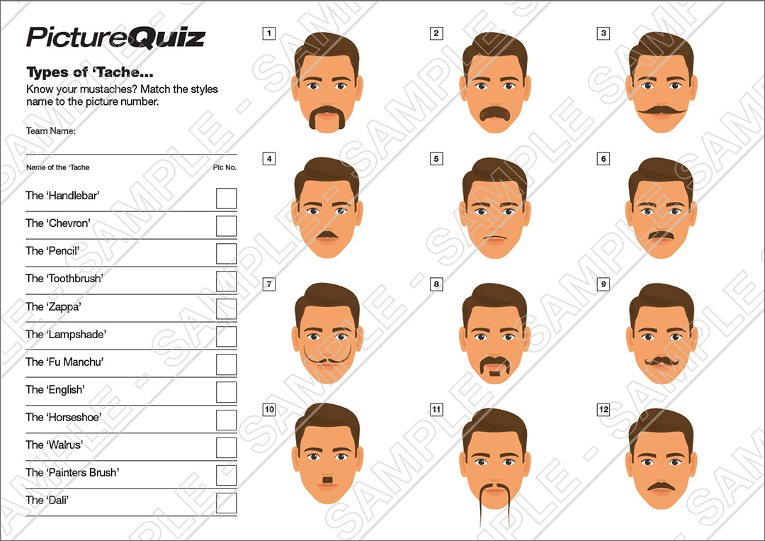 Quiz Number 075 with a Name The Taches Picture Round