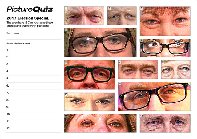Quiz ES17s Election Special is name the Politicians