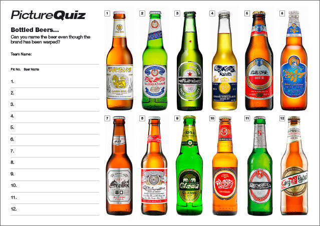 Quiz 076s Picture Round is name the Bottled Beers