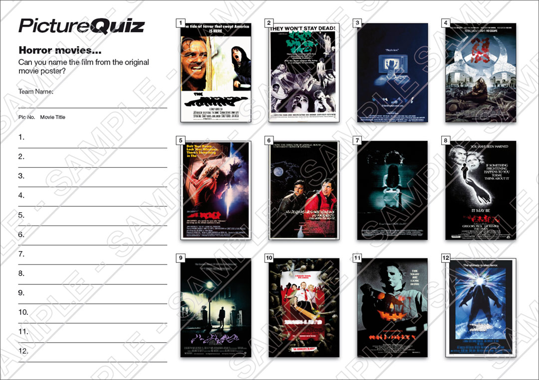 quiz number 083 with a horror movie picture round