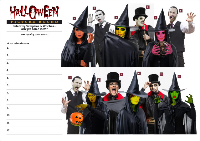Halloween Quiz - Celebrity Vampires and Witches