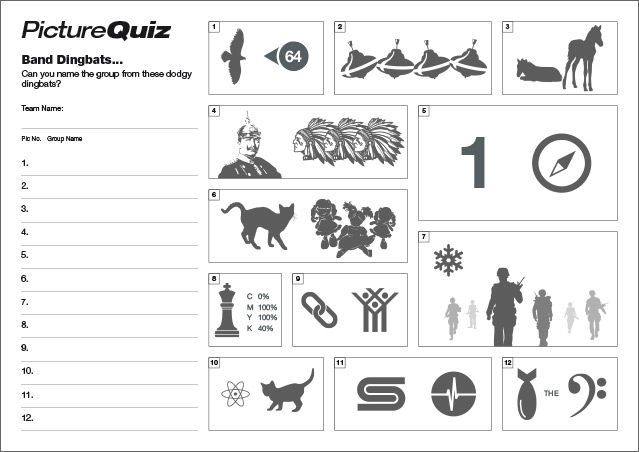 Quiz 092s Picture Round – Band Dingbats