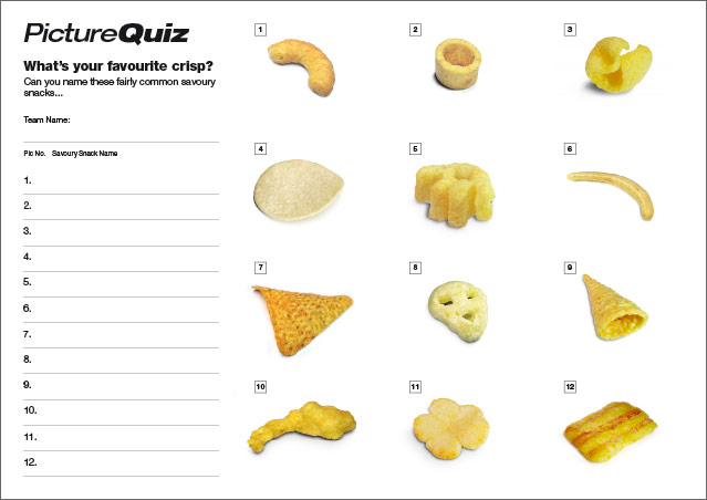 Quiz 093s Picture Round – Savoury Snacks... what's your favourite?
