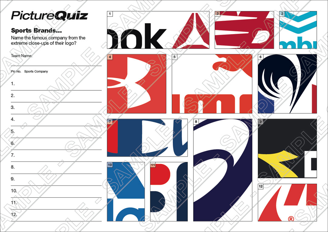 Quiz Number 094 With A Sports Brands Picture Round