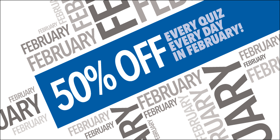 Enjoy A Fabulous 50% Off February!