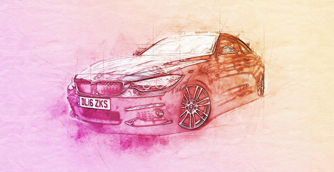 Digital Art - BMW