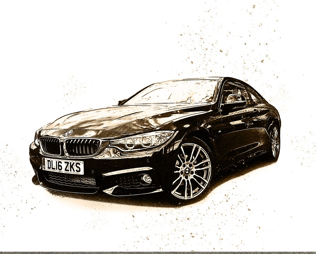 Digital Art BMW after