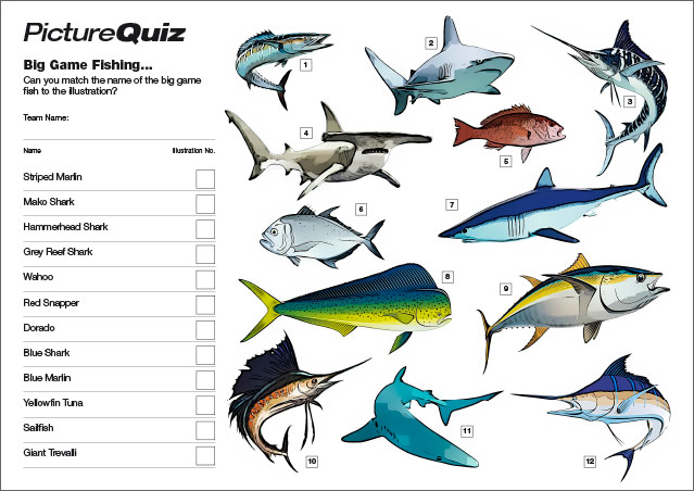 Quiz 095s Picture Round – Big Game Fishing