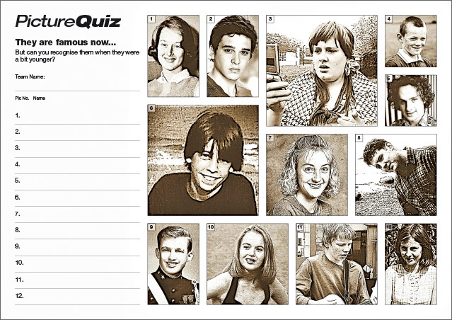 Quiz 098s Picture Round – When They Were Young