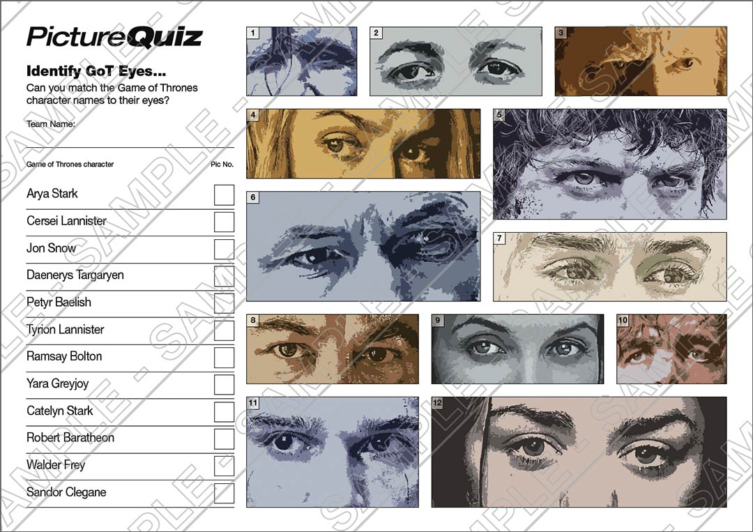 Quiz Number 101 With A Game Of Thrones Picture Round