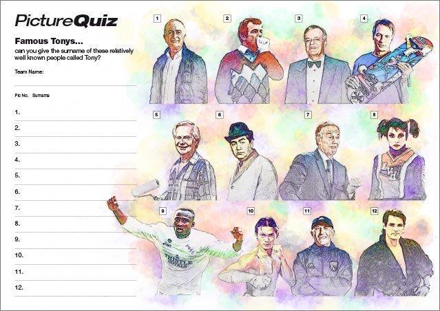 Quiz 105s Famous Tonys Picture Quiz