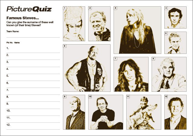 Q119s Famous Steves Picture Round