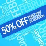 Get 50 Percent Off Everything in February