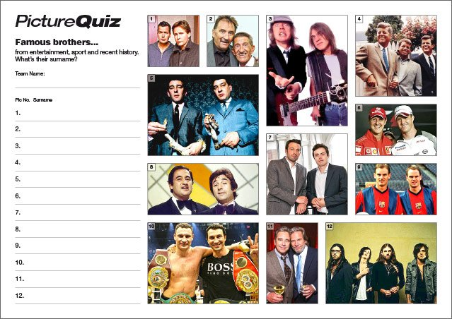 Quiz 125s Famous Brothers Picture Round