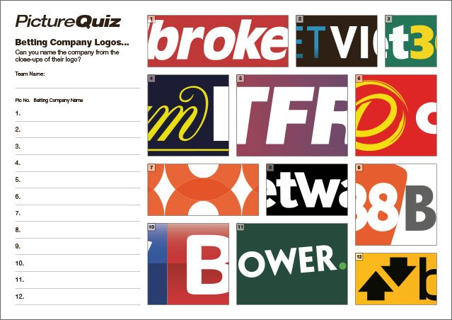 Quiz 126s Betting Logos Picture Round