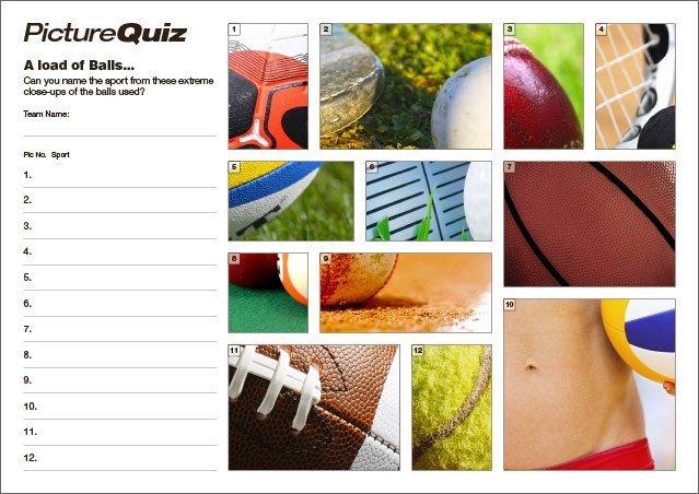 Quiz 127s Sports Balls Picture Round
