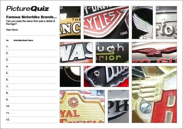 Q138s Motorbike Badges Picture Round