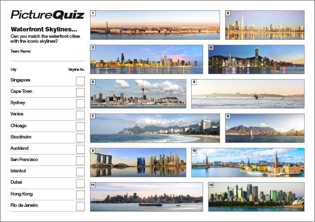 Q141s Waterfront Skylines Picture Round
