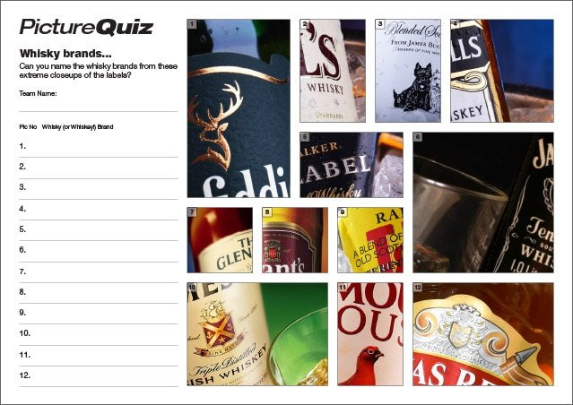 Q141s Whisky Brands Picture Round