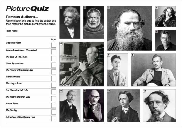 Quiz-005---Famous-Authors-S