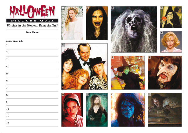 Halloween Quiz - Witches Picture Round Small