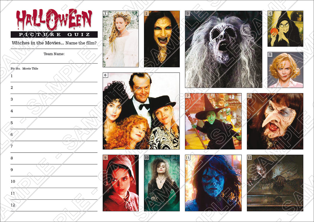 halloween quiz with celebrity vampires and witches picture round