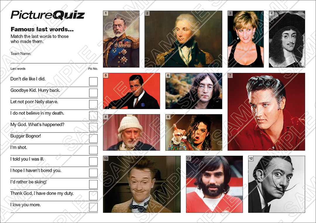 Pub Quiz Questions and Complete Quizzes from ...