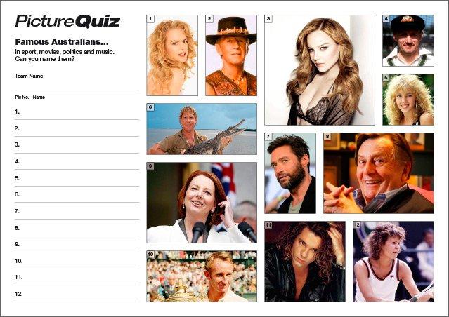 Quiz 031 Famous Australians