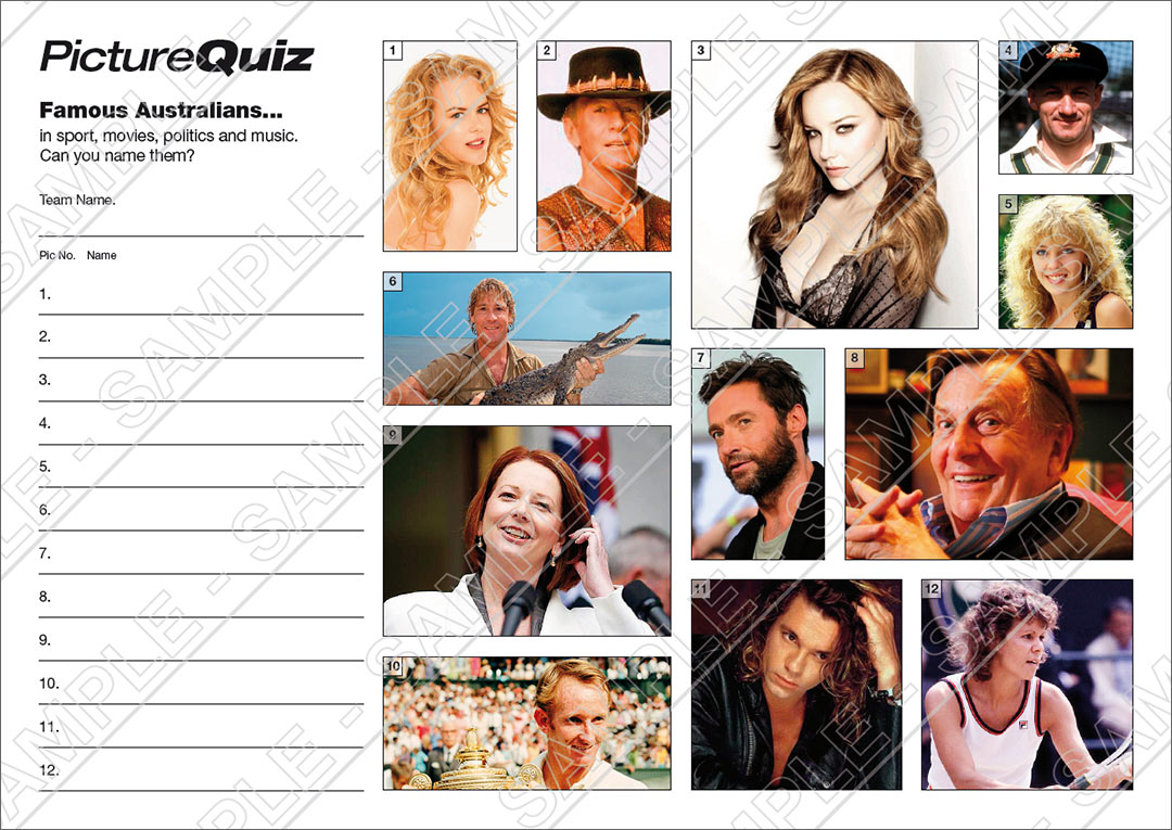 quiz number 031 with famous australians picture round. Black Bedroom Furniture Sets. Home Design Ideas