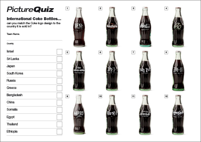 Quiz 033 Coke Bottles