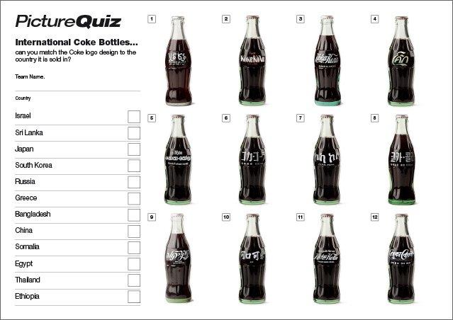 Quiz 033 Coke Bottles