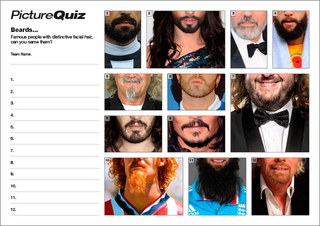 Quiz 033 Famous Beards