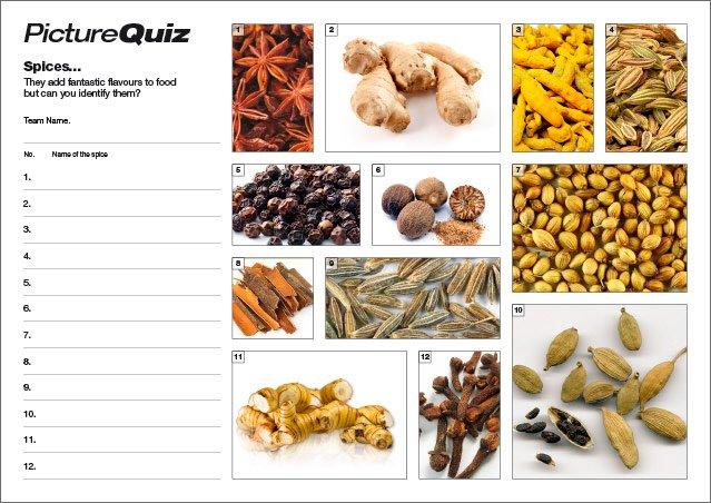 Quiz 034 Spices