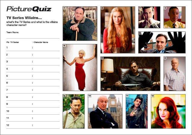Quiz 036 TV Series Villains