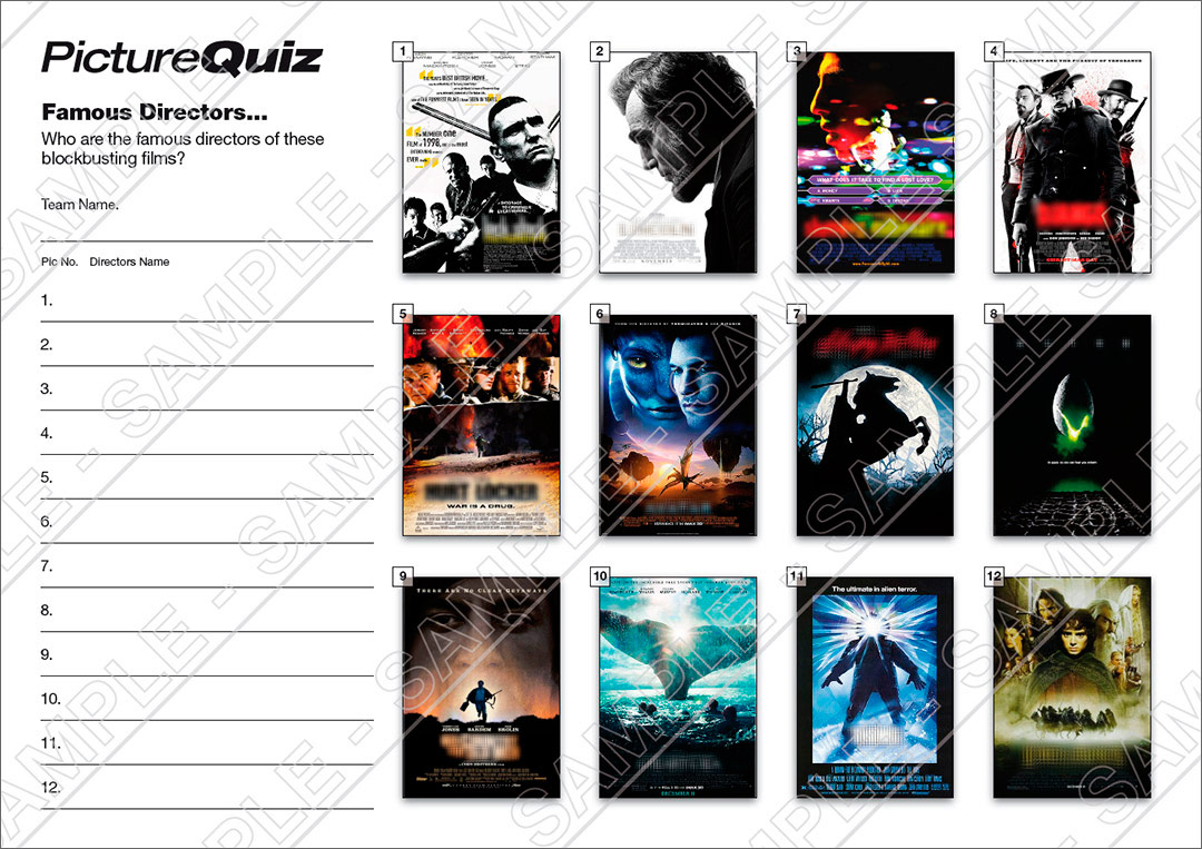 quiz number 039 with famous directors picture round