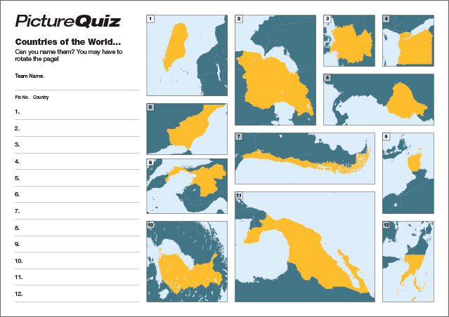 Quiz 042 Rotated Countries