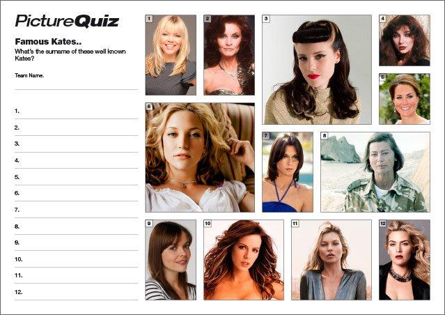 Quiz 045 Famous Kates