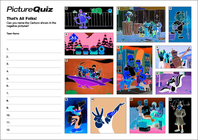Quiz 046 Picture Round - Negative Cartoons