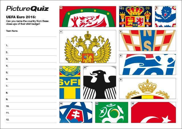 Quiz 048 Euro 2016 Badges