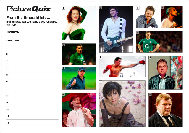 Quiz 049 Famous Irish