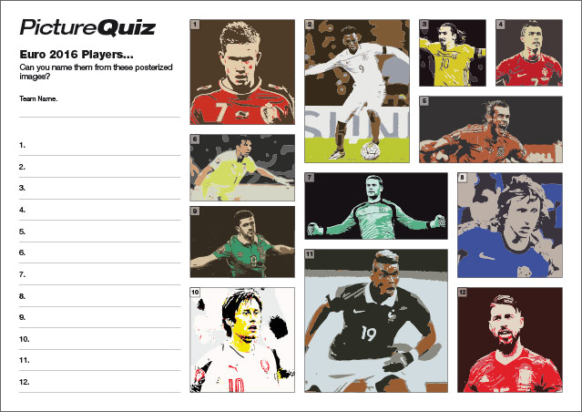 Quiz 051 Euro 2016 Players