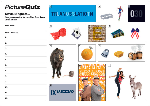 Quiz 052 Movie Dingbats